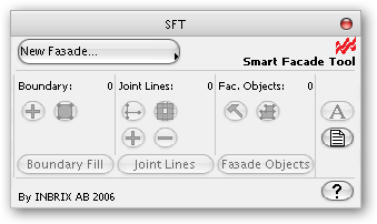 Smart facade tool 1.3  interface