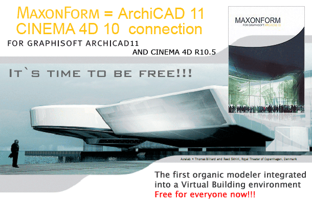 Maxon connector for Cinema 4D R10 и ArchiCAD 11
